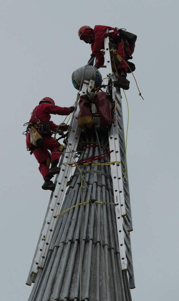 Removing the 'ball' from the church spire