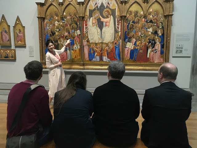 Deanery Clergy visiting National Gallery meet St Jude's alumna